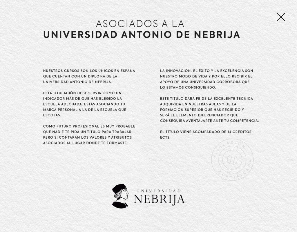 curso de maquillaje Universidad Antonio de Nebrija